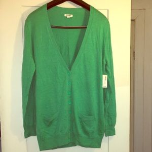 OLD NAVY cardigan green color size L,more like XL